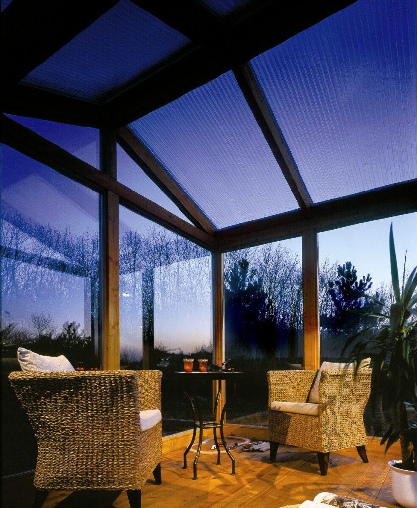 Plexiglas®-Überdachung für die Terasse oder den Garten