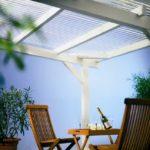 Plexiglas®-Überdachung für die Terasse oder das Carpourt
