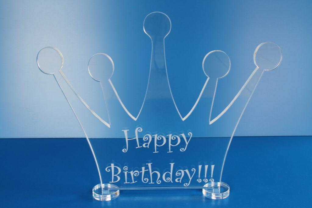 Geburtstagsdekoration aus Kunststoff