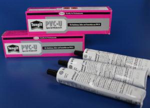 Klebstoffe für Kunststoffe wie Plexiglas® - Kunststoffverarbeitung in Köln bei Carl Thomas. Hier Bild von einem PVC-Kleber.