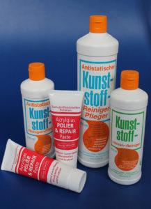 Kunststoffreiniger und Kunststoffpflege für Kunststoffe aller Art. Zubehör Kunststoffe.