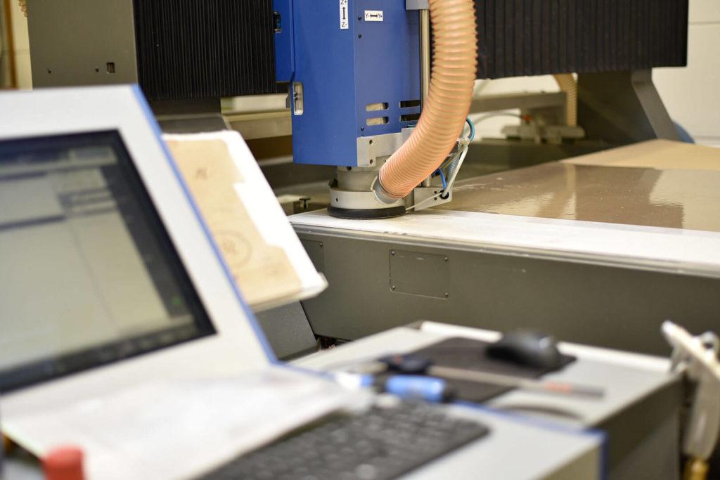 Eine unserer hochmodernen CNC-Fräsmaschinen.